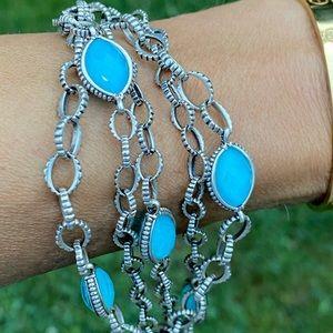 Lagos Venus Layered Crystal & Turquoise  Bracelet